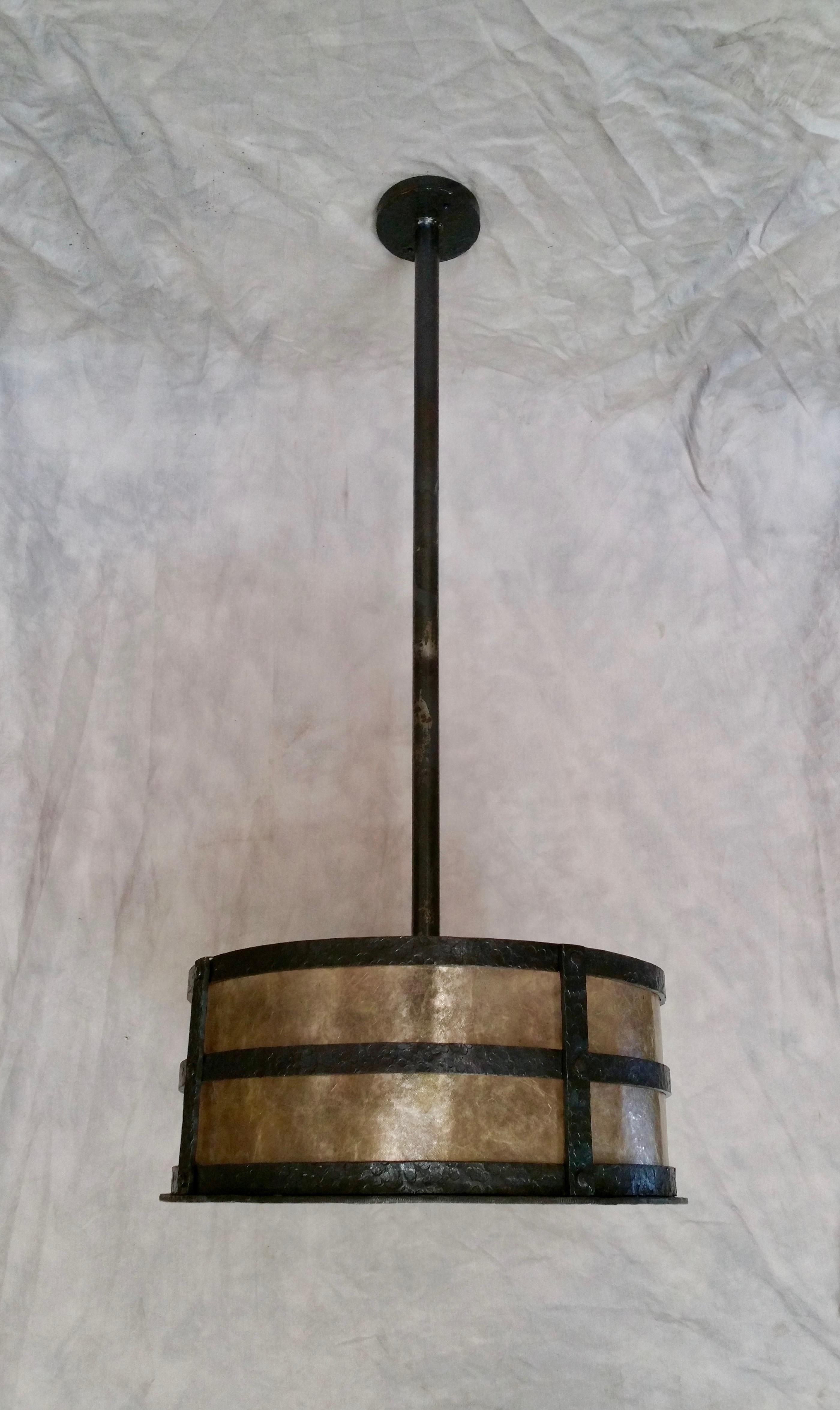 Hammered Drum Pendant155357