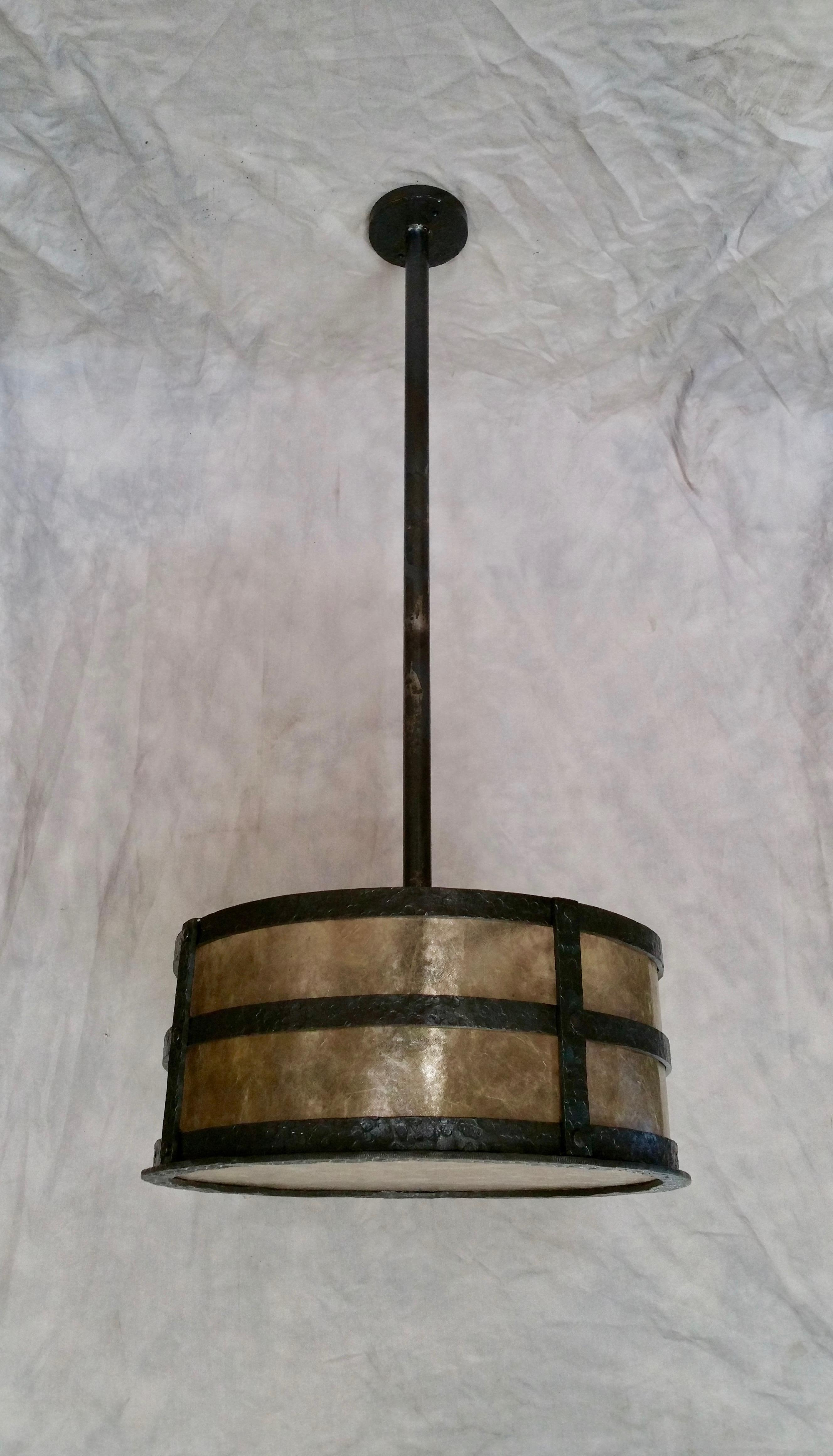 Hammered Drum Pendant155400