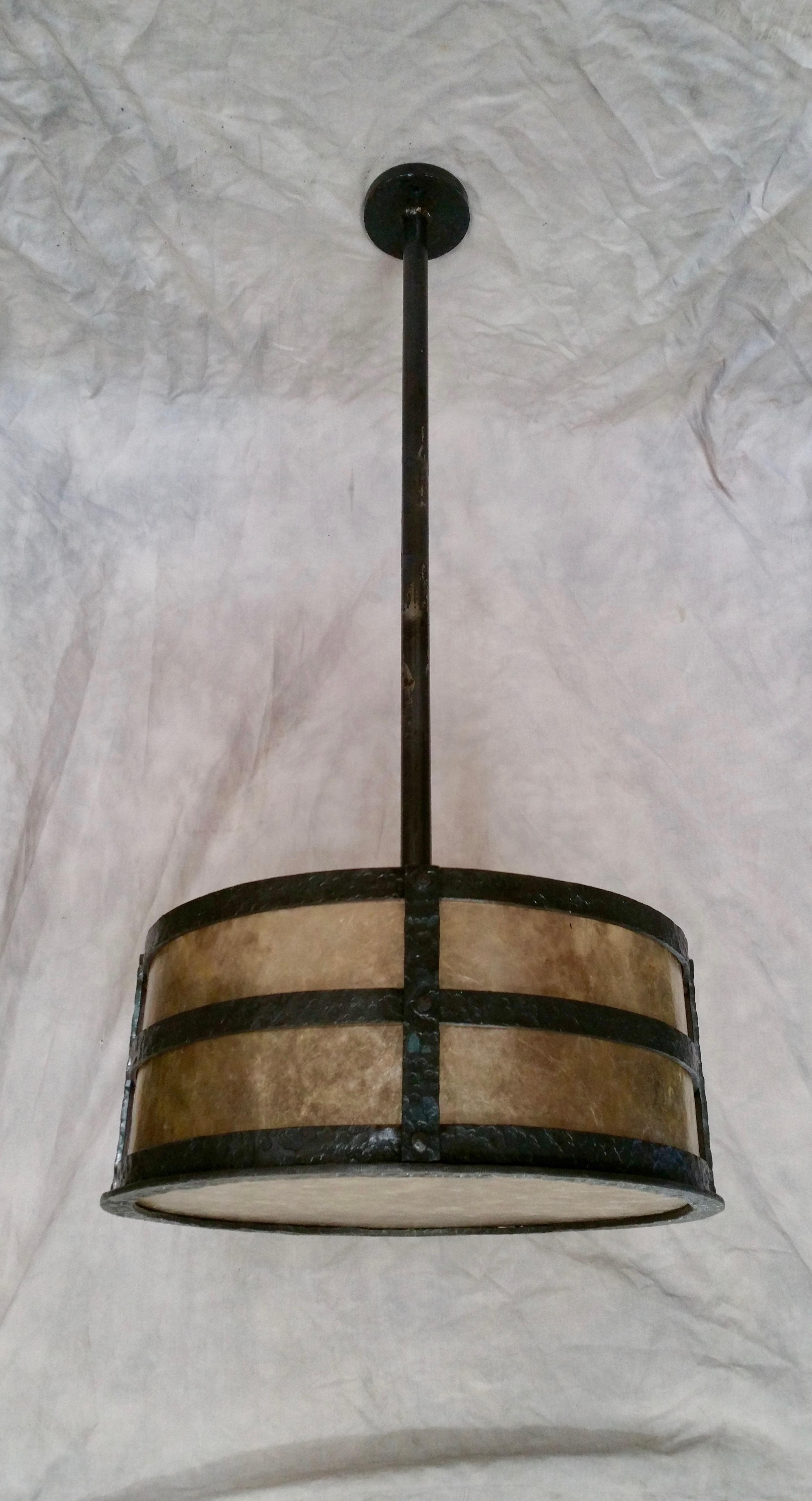 Hammered Drum Pendant155442