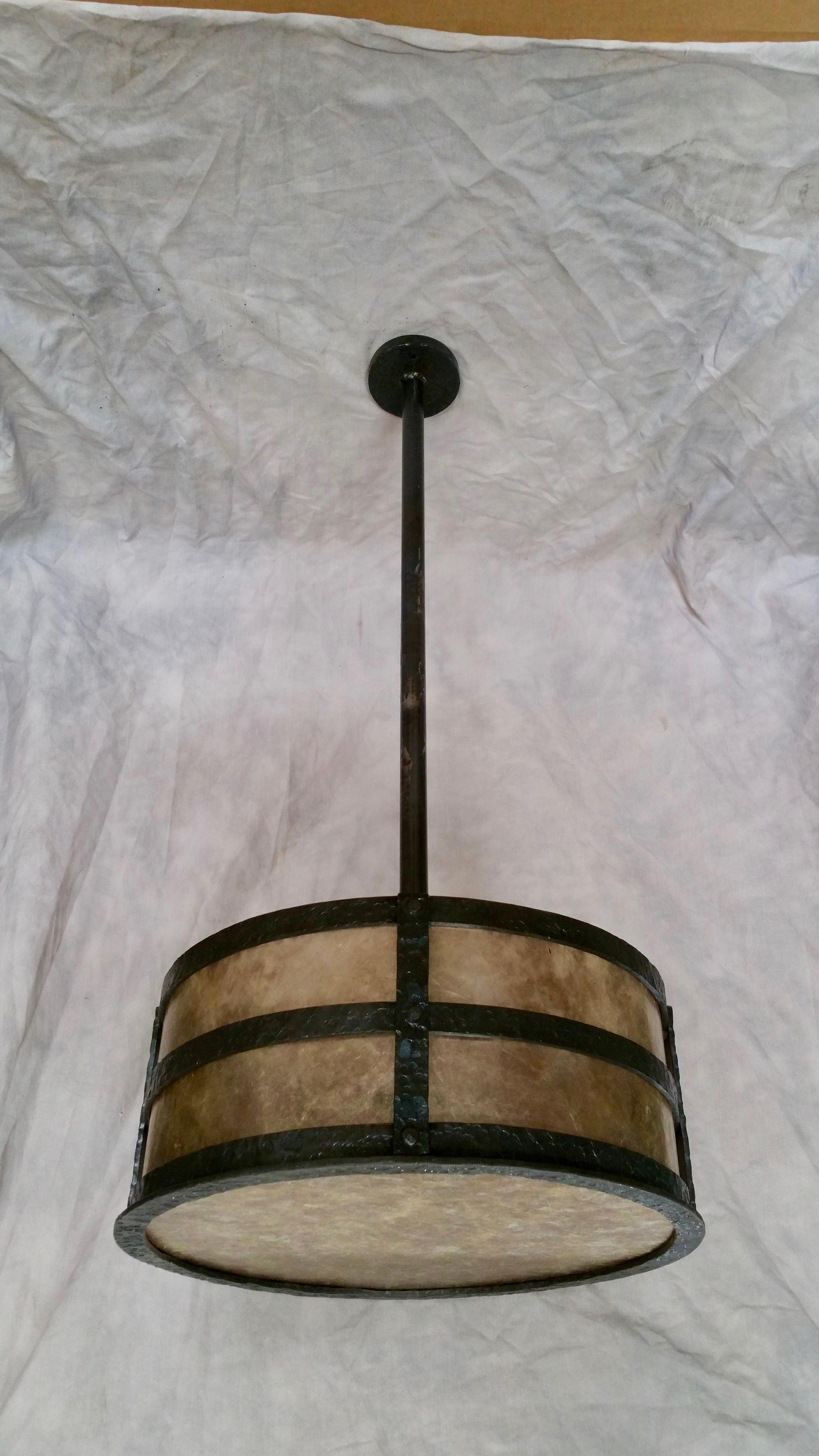 Hammered Drum Pendant155455